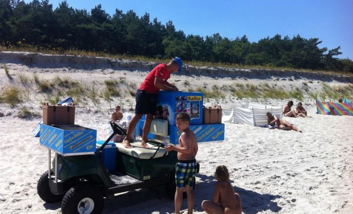eiseilige eis am strand